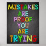 Poster Décor de salle de classe, citations de salle de