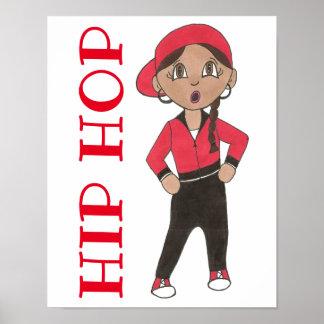 Poster Décor Hiphop d'école de studio de danse de danseur