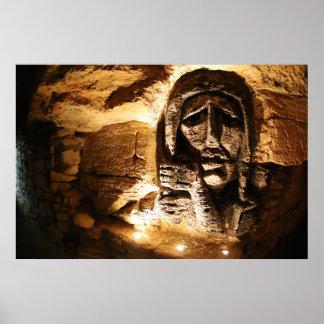Poster Découpage de mur de catacombes