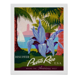 Poster Découvrez le voyage, histoire de Porto Rico