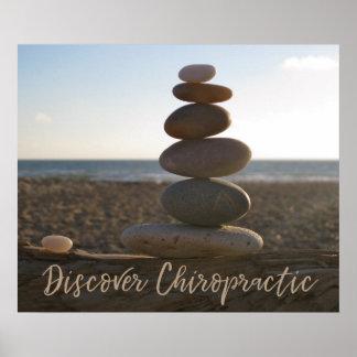 Poster Découvrez les roches équilibrées par chiropractie