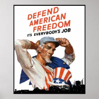 Poster Défendez la liberté américaine -- Frontière