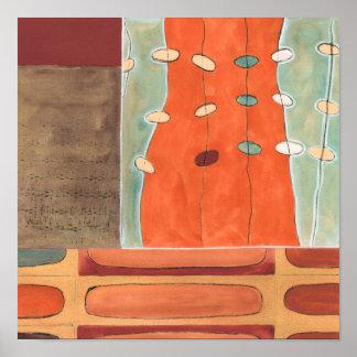 Poster Défilé abstrait des oeufs par Bruyère J Vess