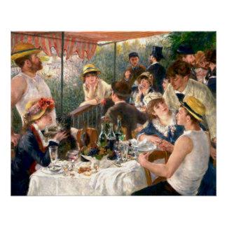 Poster Déjeuner français de Renoir à la partie de