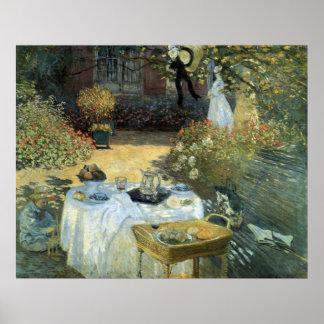 Poster Déjeuner par Claude Monet, impressionisme vintage