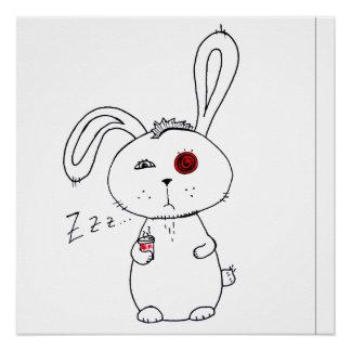 Poster Demi de lapin caféiné