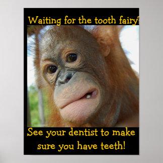 Poster Dentiste d'enfants de fée de dent d'enfants