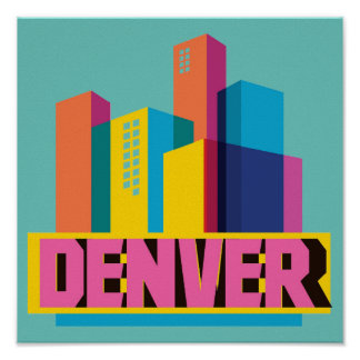 Poster Denver dans la conception