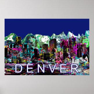 Poster Denver dans le graffiti