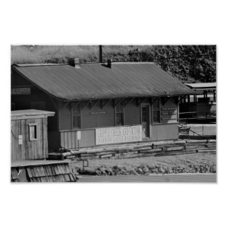 Poster Dépôt de chemin de fer du Colorado de crique