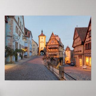 Poster Der Tauber d'ob de Rothenburg