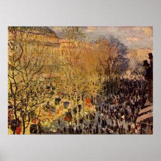 Poster DES Capucines par Claude Monet, beaux-arts de
