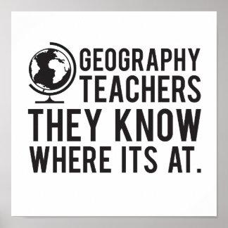 Poster Des professeurs de géographie, ils savent à où il