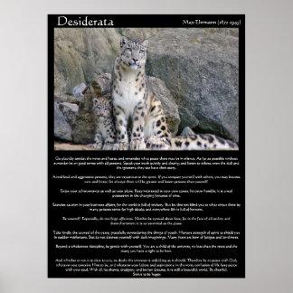 Poster Desiderata deux guépards dans la montagne