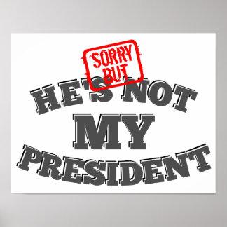 Poster Désolé mais lui n'est pas mon président