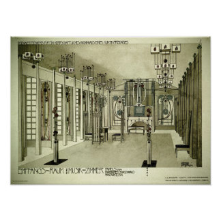 Poster Dessin 1901 de Charles Rennie Mackintosh