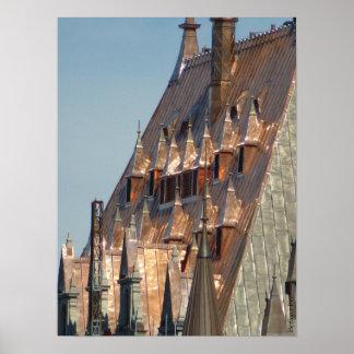 Poster Dessus de toit de Frontenac