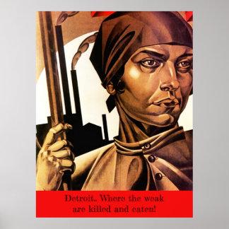 Poster ~ Detroit d'AFFICHE où les faibles sont tués et