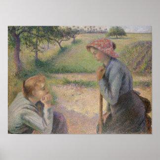 Poster Deux jeunes femmes rurales