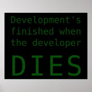 Poster Développement fini quand le lotisseur meurt