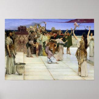 Poster Dévouement d'Alma-Tadema |A au Bacchus