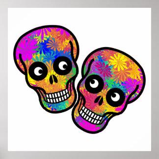 Poster Dia De Los Muertos - couple heureux