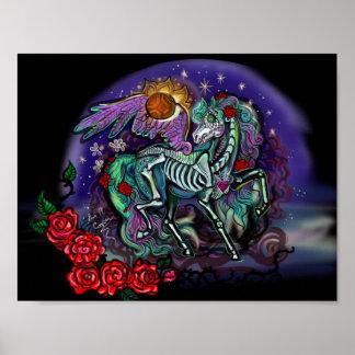 Poster Día de Muertos Horse