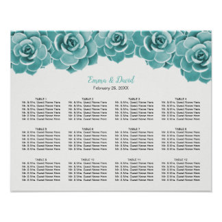 Poster Diagramme floral succulent d'allocation des places