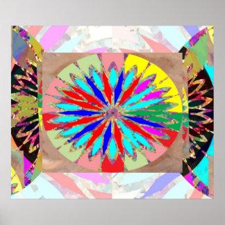 Poster Diamant de haute énergie - fleur Chakra