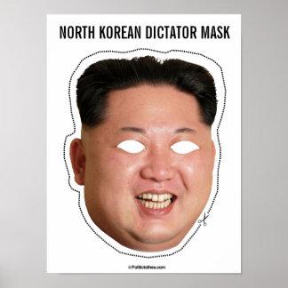 Poster Dictateur coréen du nord Mask