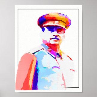 Poster Dictateur vintage Colorful de Joseph Staline 2ÈME