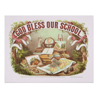 Poster 'Dieu bénissent notre école et affiche