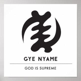 Poster Dieu de Gye Nyame | est symbole suprême