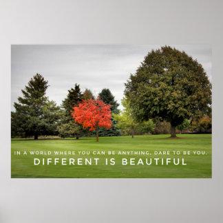 Poster Différente est la belle affiche