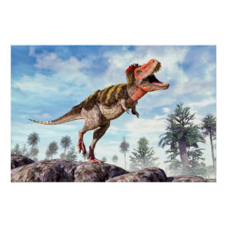 Poster Dinosaure de Theropod crétacé de Tarbosaurus