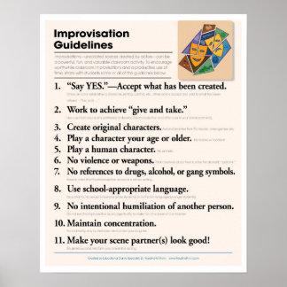 Poster Directives d'improvisation de salle de classe