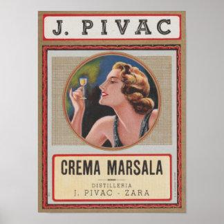 Poster Distilleria J.Pivac Zara