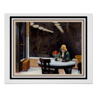 Poster Distributeur automatique par Edward Hopper 16 x 20