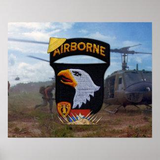 Poster Division d'ABN d'armée 101st criant la correction