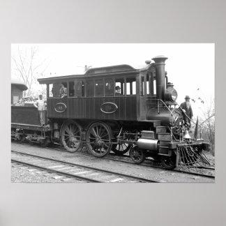 Poster DL+ Locomotive d'inspection de vapeur de W