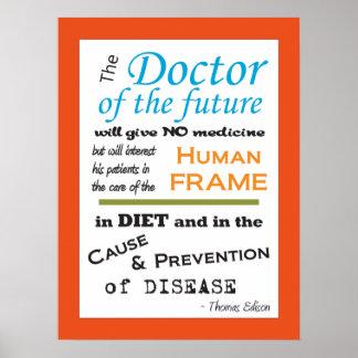 Poster Docteur de Thomas Edison de la future