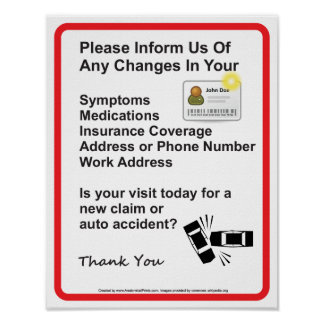 Poster Docteur Patient Information Wall Sign #1