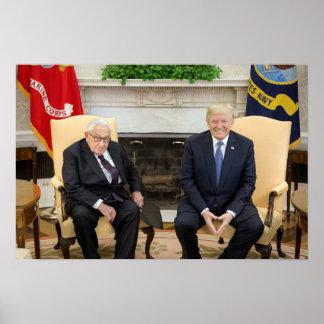 Poster Donald Trump avec Henry Kissinger