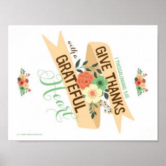 Poster Donnez les mercis avec une copie reconnaissante de
