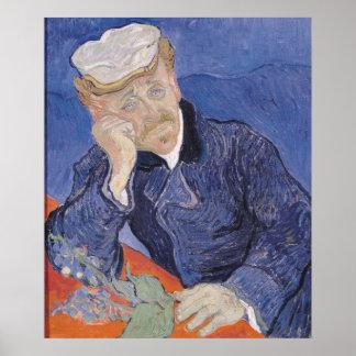 Poster Dr. Paul Gachet, 1890 de Vincent van Gogh |