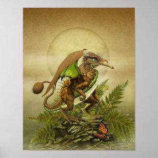 Poster Dragon 11x14 de kiwi (4x6 et se lèvent)