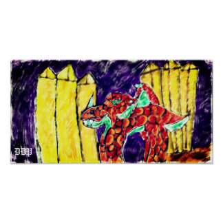 Poster Dragon et topaze