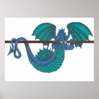 Poster Dragon traînant