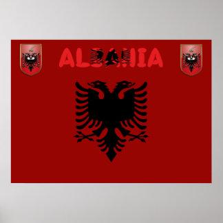Poster Drapeau albanais