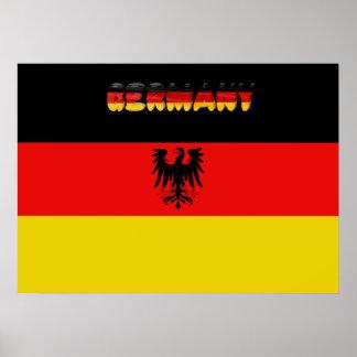 Poster Drapeau allemand